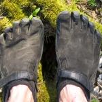 Pohled na boty shora