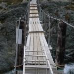 Provizorní most přes potok