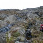 Ze Spiterstulen se začíná zostra do kopce.