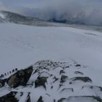Trhliny v ledovci a navazování na lano