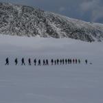 Placený horský vůdce a navázaná skupina
