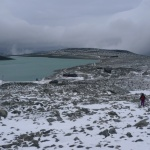 Juvasshytta a jezero Juvvatnet