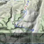 Mapa třetího dne + výškový profil