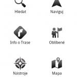 Mapfactor - úvodní obrazovka