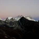 Západ slunce a Everest