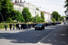 Pochod námořní školy v Kronštadtu