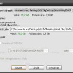 DVD Styler - nastavení exportu.