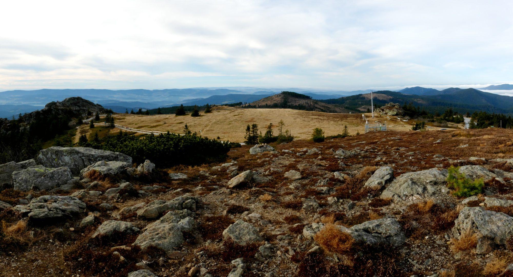 Panorama Velkého Javoru z vrcholu
