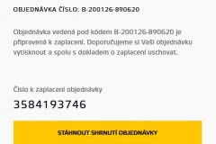 Bitstock - číslo objednávky