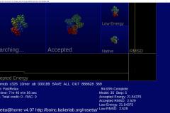 Rosetta@home - 3D pohled na to, co právě počítáte.