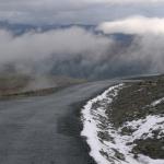 Silnice dolů z Juvasshytty