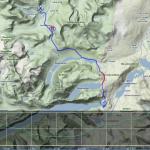 Mapa prvního dne + výškový profil