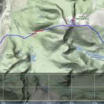 Mapa druhého dne + výškový profil