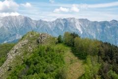 Výhled z vrcholu Monte Brugiana