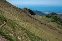 Cesta na Monte Sagro je pohodová.