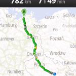 Mapy Google - náhled trasy